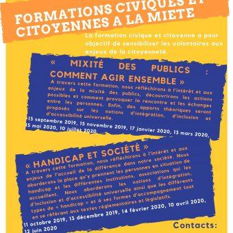 Formations civiques et citoyennes de la MIETE 2019/2020 à destination des volontaires en service civique